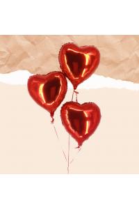 3pc Heart Foil Balloon Bouquet