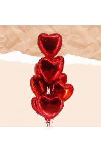 9pc Heart Foil Balloon Bouquet