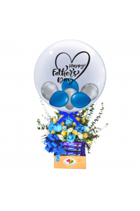Father's Day Floral Choc Hot Air Balloon