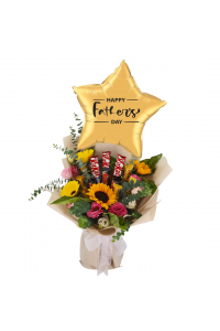 Standard Father's Day Floral Choc Bouquet