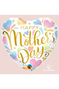 """18"""" Mother's Day Pastel Hearts"""