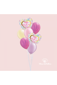 Twin Heart Balloon Bouquet