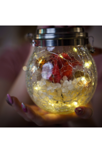 Flower Light Jar