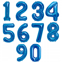 "40"" Blue Number Foil Balloons"