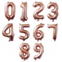 """40"""" Rose Gold Number Foil Balloons"""