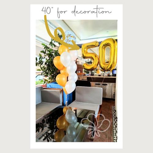 """40"""" Black Number Foil Balloons"""