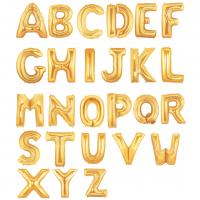 """40"""" Gold Letter Foil Balloons"""