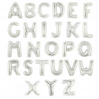"""40"""" Silver Letter Foil Balloons"""