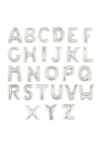 """17"""" Silver Letter Foil Balloons"""