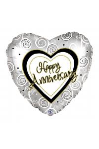 "18"" Anniversary Silver Heart"