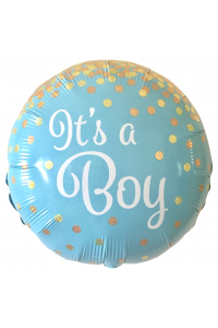 "18"" Baby Shower Baby Boy Blue and White Confetti"