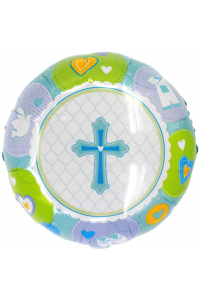 "18"" Baby Shower Baby Boy Cross"