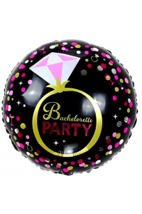 "18"" Bachelorette Party Black and Pink"
