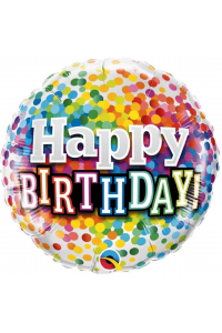 "18"" Birthday Colourful Multi Dots"
