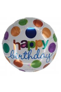 "18"" Birthday Colourful Polka Dots"