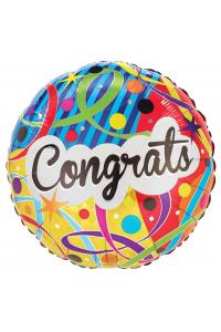 """18"""" Congratulations Colourful Script"""