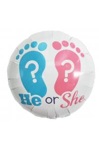 """18"""" Gender Reveal White Round"""