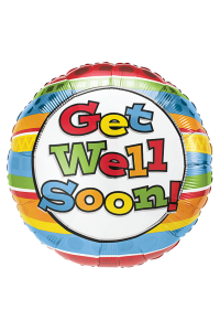 """18"""" Get Well Soon Colourful Stripes"""