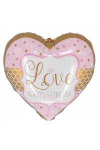 """18"""" Valentine's Pastel Pink Heart"""