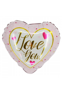 """18"""" Valentine's Pink and Gold Heart"""