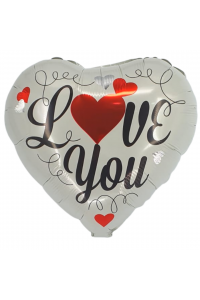 "18"" Valentine's Silver Heart"