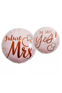 """18"""" Wedding Pink Mr & Mrs"""