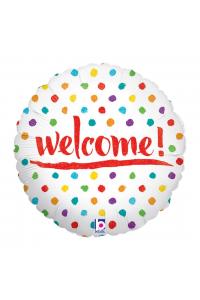 "18"" Welcome Colourful Polka Dots"