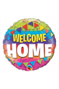 """18"""" Welcome Home Multi Color Pennant"""