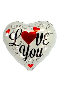 """18"""" Valentine's Silver Script Heart"""