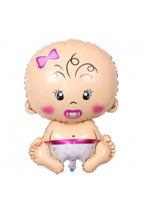 """26"""" Baby Girl with Pacifier"""