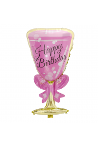 """33"""" Happy Birthday Pink Champagne Cup"""