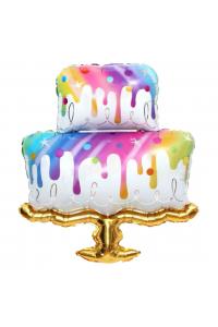 "39"" Birthday 2-tier Rainbow Cake"