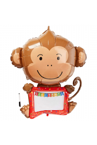 "43"" Non-foil Monkey with Whiteboard"